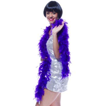 boa, boa de déguisement, boa années 30, boas charleston, boa années 20, boa années folles, boas violets, boa violet, boa en plumes violettes Boa en Plumes Violettes