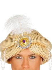 chapeaux oriental, coiffe orientale, chapeaux aladin, chapeaux orientals paris, coiffes orientales, chapeau doré paris, accessoire oriental, turban oriental Chapeau de Maharadjah Oriental, Luxe