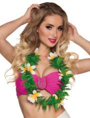 collier hawaïen, collier hawaï, collier de fleurs hawaïen, collier de fleurs hawaï, collier de fleurs hawaïen pas cher Collier de Fleurs Hawaïen, avec Feuilles Vertes
