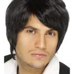 perruque pour homme, perruque pas chère, perruque de déguisement, perruque homme, perruque noire Perruque Boy Band, Noire