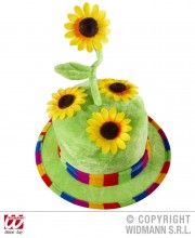 chapeau tournesol, chapeau fleurs, chapeau humour, chapeau de jardinier, Chapeau Tournesols
