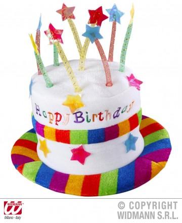 chapeau anniversaire, chapeau gâteau d'anniversaire, accessoire pour anniversaire, chapeau bougies Chapeau Anniversaire