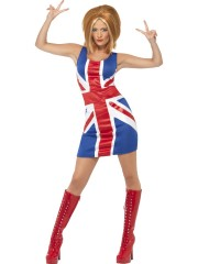 déguisement robe anglaise, déguisement drapeau anglais femme, déguisement union jack femme, déguisement anglais femme Déguisement Miss Drapeau Anglais