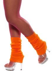 guêtre année 80 orange fluo, accessoire années 80, accessoire déguisement, accessoire disco, accessoire fluo, guêtres années 80, accessoire disco Guêtres Années 80, Orange Fluo