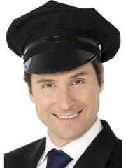 casquette de chauffeur, casquettes métiers, casquettes paris Casquette de Chauffeur, en Tissu Noir