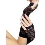 accessoires années 80, gants mitaines résille noire, gants femme noirs, mitaines résille noires, gants mitaines déguisement, accessoires gants déguisement Gants Mitaines Résille, Noirs
