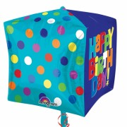 ballon hélium, ballon anniversaire, ballon happy birthday Ballon Aluminium, Anniversaire, Cube Happy Birthday