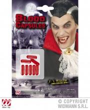 capsules de faux sang, faux sang, maquillage faux sang halloween, faux sang déguisement, faux sang paris, faux sang comestible, faux sang effets spéciaux Faux Sang en Capsules