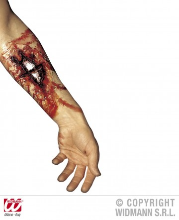 blessure fracture, blessure halloween, maquillage blessure halloween, maquillage halloween latex, fausses cicatrices halloween, maquillage halloween Blessure, Fracture Ouverte