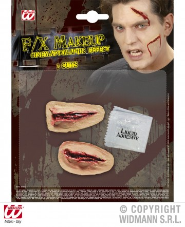 blessure coupures halloween,blessure halloween, maquillage blessure halloween, maquillage halloween latex, fausses cicatrices halloween, maquillage halloween Blessure, Coupures