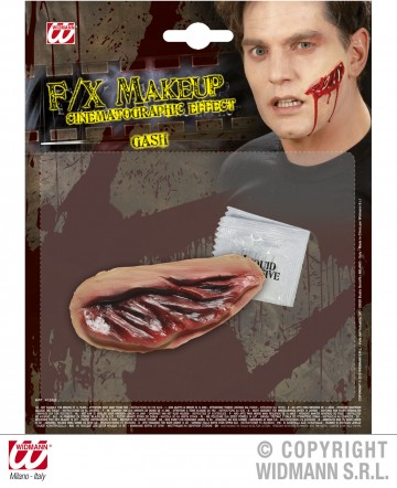 blessure entaille halloween, blessure halloween, maquillage blessure halloween, maquillage halloween latex, fausses cicatrices halloween, maquillage halloween Blessure, Entaille