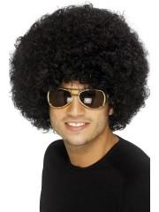 perruque pour homme, perruque pas chère, perruque de déguisement, perruque homme, perruque noire, perruque afro Perruque Afro Funky 80, Noire