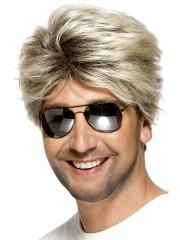 perruque pour homme, perruque pas chère, perruque de déguisement, perruque homme, perruque blonde , perruque années 80, perruque disco Perruque 80's Street, Blonde, Cendrée