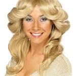 perruque femme, perruque pas cher paris, perruque blonde, perruque disco, perruque années 80, perruque farraw facet, perruque abba Perruque Flick, Blonde