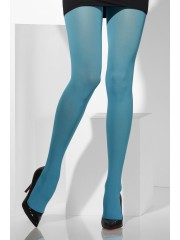 collants bleus, collant opaque, collant uni, collant déguisement, accessoire déguisement, collant bleu, collant schtroumpf Collant Opaque, Bleu