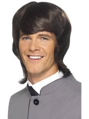perruque pour homme, perruque pas chère, perruque de déguisement, perruque homme, perruque noire, perruque années 60 Perruque 60's Mod Male, Noire