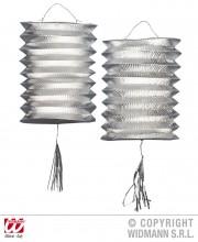 lampion argent cylindre, lampions argent de noel, décorations de noel lampions, lampions argentés Lampion Cylindrique x 2, Argent