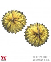 lampion or boule, décorations lampions, lampions dorés, décorations noel lampions Lampions Boules x 2, Or