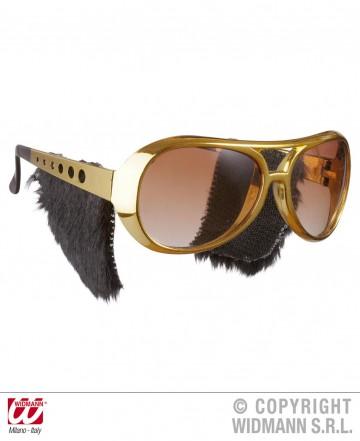 lunettes de déguisement, lunettes de fêtes, lunettes soirée déguisée, accessoires lunettes,lunettes fantaisie, lunettes pas chères, lunettes elvis, lunettes rock, lunettes king, lunettes elvis pattes Lunettes Elvis avec Pattes