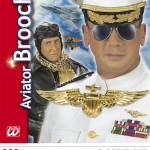 broche d'aviateur, accessoire pilote, accessoires de déguisement, insigne de pilote, accessoires déguisements pas cher, accessoire aviateur déguisement Broche d'Aviateur