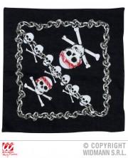 bandant tête de mort, accessoire halloween, bandana de pirates, accessoires pirates, drapeau tête de mort, bandana squelette Bandana Têtes de Mort