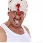 bandeau ensanglanté, accessoires halloween, accessoire déguisement halloween, faux sang, bandage faux sang Bandage de Tête Ensanglanté