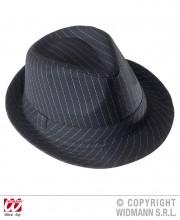 chapeau borsalino, chapeaux borsalino, chapeaux années 30, chapeaux gangster années 20, chapeaux paris, chapeaux charleston, chapeaux des années 30, accessoire déguisement prohibition Chapeau Borsalino, Noir Rayures Blanches