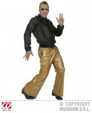 soirée disco, déguisement disco, pantalon pattes d'eph, pantalon disco, accessoire disco déguisement Déguisement Disco Années 80, Pantalon Or