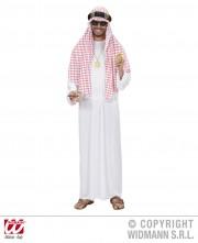 déguisement de prince arabe, déguisement oriental, déguisement sheik arabe, costume sheik arabe, déguisement roi du pétrole Déguisement Sheik Arabe, Foulard Rouge et Blanc