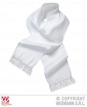 écharpe blanche de dandy, écharpe blanche en satin, écharpe gangster, écharpe années 30, accessoire années 30 Echarpe Blanche de Dandy