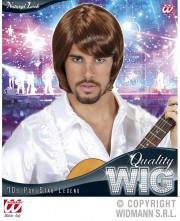 perruque pour homme, perruque pas chère, perruque de déguisement, perruque homme, perruque châtain , perruque années 70, perruque disco Perruque 70's Pop Star Legend, Châtain Clair