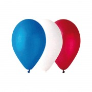 ballons france, décorations france, décorations euro 2016, boutique supporters, accessoires euro 2016, ballons hélium, ballons de supporter Ballon en Latex, Tricolore Bleu Blanc Rouge x 100