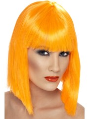 perruque femme, perruque pas cher paris, perruque glam, perruque orange carré, perruque orange Perruque Glam, Orange