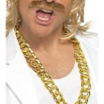 fausse chaine en or, fausse gourmette or, bijoux bling bling, bijoux de déguisement, bracelet chaîne or pas cher, bracelets déguisement, déguisement bling bling Chaine Dorée