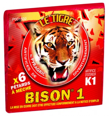 pétards, pétards et fumigènes, pyragric, acheter des pétards à paris, bisons Pétards, Le Tigre Bison 1