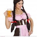perruque pas chère à paris, perruques femmes, perruques de déguisement, perruque noire, perruque tresses noires, perruque nattes, perruque bavaroise Perruque de Bavaroise, Gretel, Noire, Tresses