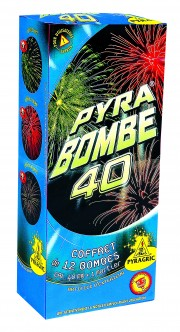 feux d'artifices, achat feux d'artifice paris, bombes d'artifices, mortier, feux d'artifice pyragric Feux d'Artifices, Bombes, Pyra Bombe 40, Usage Règlementé
