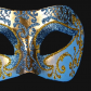 Vénitien, Brillante, Bleu et Or