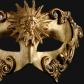 masque vénitien, loup vénitien, masque carnaval de venise, véritable masque vénitien, accessoire carnaval de venise, déguisement carnaval de venise, loup vénitien fait main Vénitien, Barocco Sole, Or