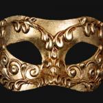 masque vénitien, loup vénitien, masque carnaval de venise, véritable masque vénitien, accessoire carnaval de venise, déguisement carnaval de venise, loup vénitien fait main Vénitien, Colombina Stucchi, Or