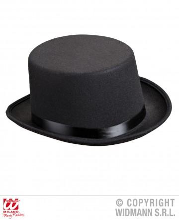 chapeaux haut de forme, chapeau haut de forme, chapeaux haut de forme paris, chapeaux paris, chapeau haut de forme noir Chapeau Haut de Forme, Feutre Noir et Ruban Satin