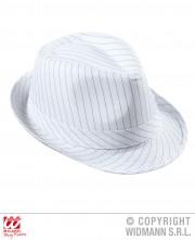 chapeaux borsalino, chapeau borsalino, chapeaux années 30, accessoires déguisements années 30, chapeaux paris, chapeaux de gangster Chapeau Borsalino, blanc à rayures noires