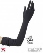 gants charleston, gants longs noirs, gants noirs longs, gants longs femme, gants années 20, gants années 30, gants longs noirs, gants déguisement, gants femme déguisement, gants lycra noirs, gants lycra femme Gants en Lycra, 60 cm, Noirs