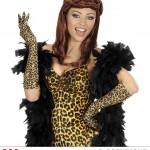 gants lycra léopard, gants longs femme, gants déguisement, gants longs léopard, gants motifs léopard, gants femme léopard, accessoire léopard déguisement, accessoire déguisement léopard Gants en Lycra, Léopard