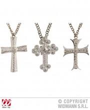 pendentif croix de bonne soeur, collier de déguisement, accessoires de déguisement, collier croix déguisement, collier croix de déguisement, collier déguisement de bonne soeur, croix de nonne, chapelet de déguisement, accessoires de fête Collier Croix sur Chaine