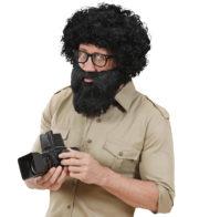 fausse barbe, fausses moustaches, postiche, barbe postiche Barbe Noire