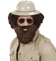 fausse barbe, fausses moustaches, postiche, barbe postiche, barbe chatain Barbe Châtain