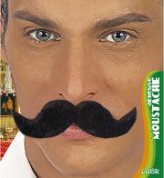 fausses moustaches, postiche, moustache postiche, fausses moustaches réalistes, fausse moustache de déguisement, moustaches Moustache Ambassadeur, Noire