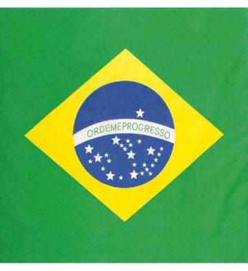 bandana brésilien, bandana brésil, drapeau du brésil, soirée brésilienne, accessoire brésil Bandana Brésil