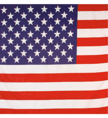 bandana américain, bandana états unis, accessoire américain, soirée américaine, drapeau américain, foulard américain Bandana Etats Unis, Drapeau Américain US